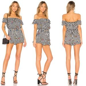 Lovers + Friends Striped Quincy Romper